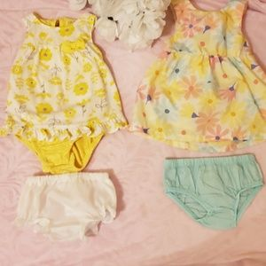 2 Adorable Spring/Summer Dresses W/bloomers